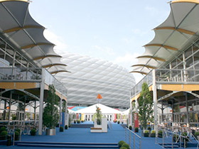 Nedal extrusion tent constructions