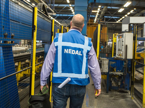 Nedal aluminium - safety officer