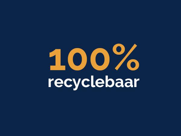 100% recyclebaar