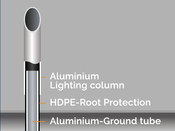 aluminium lighting column