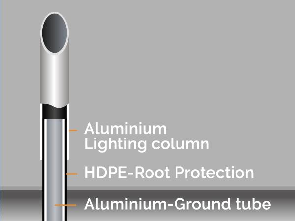 aluminium lighting column